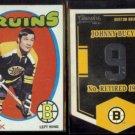 JOHNNY BUCYK 1971 Topps #35 + 2012 Panini Classics Banner #EN12.  BRUINS