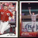 JAY BRUCE 2014 Topps #124 + 2015 Topps Opening Day #120.  REDS