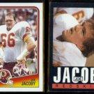 JOE JACOBY 1988 Topps #16 + 1985 Topps #183.  REDSKINS
