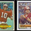 STEVE BARTKOWSKI 1980 Topps #289 + 1983 Topps #15.  FALCONS