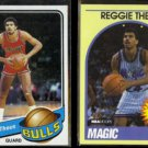 REGGIE THEUS 1979 Topps #44 + 1989 Hoops #68.  BULLS / MAGIC