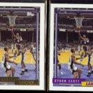 BYRON SCOTT 1992 Topps Gold Insert w/ sister #47.  LAKERS