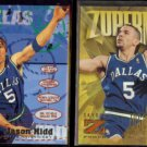 JASON KIDD 1995 Fleer #36 + 1996 Skybox Z Force #181.  MAVS
