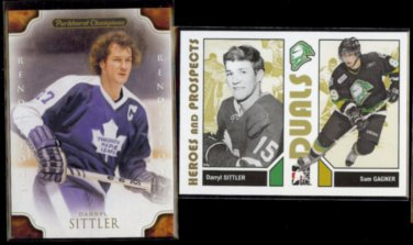 DARRYL SITTLER 2011 Parkhurst Champs + 2007 In The Game Heroes & Prospects.