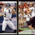 DREW BREES 2004 UD Legends #72 + 2012 UD #18.  CHARGERS / BOILERMAKERS