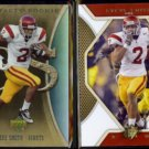 STEVE SMITH 2007 UD Artifacts Rookie #195 + 2010 UD SPX #41.  GIANTS / TROJANS