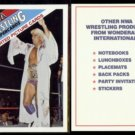 RIC FLAIR (2) 1988 NWA Wonderama WWE Header Card.