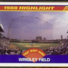 WRIGLEY FIELD 1989 Score #652.  First Night Game - CUBS