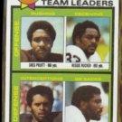 GREG PRUITT 1979 Topps #113.  BROWNS Leaders w/ Rucker ++