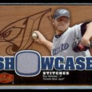 ROY HALLADAY 2006 Flair Showcase Stitches Insert #SS-RH.  BLUE JAYS - Thick Stock