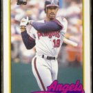 CLAUDELL WASHINGTON 1989 Topps Traded #125T.  ANGELS
