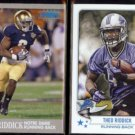 THEO RIDDICK 2013 Ultra Rookie #76 + 2013 Topps Magic RC #199.  IRISH / LIONS