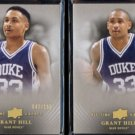 GRANT HILL (2) 2013 UD All Time Greats #'d Inserts 042 + 117/150.  Super Thick Stock
