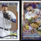 NICK CASTELLANOS 2014 Topps Rookie #195 + 2015 Opening Day #43.  TIGERS