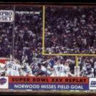 SCOTT NORWOOD 1991 Pro Set (The Miss) #54.  BILLS