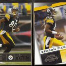 PLAXICO BURRESS 2003 Playoff Honors #72 + 2003 Playoff Contenders #72.  STEELERS
