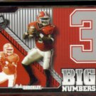 D.J. SHOCKLEY 2006 Press Pass Big Numbers Insert #BN6/33.  GEORGIA