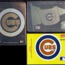 CUBS Hologram + Sticker Lot (3) Cards w/ 1991 + 1992 Hologram Logos