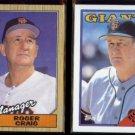 ROGER CRAIG 1987 Topps #193 + 1988 Topps #654.  GIANTS