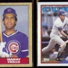 MANNY TRILLO 1987 Topps #732 + 1988 Topps #287.  CUBS