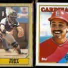 TONY PENA 1987 Topps #60 + 1988 Topps #410.  PIRATES / CARDS