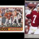JOHN ELWAY 1989 Topps #238 + 2013 Ultra #26.  BRONCOS / STANFORD