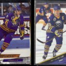 PAT LaFONTAINE 1993 Ultra #219 + 1993 Leaf #12.  SABRES