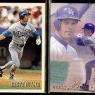 BRETT BUTLER 1993 Bowman #422 + 1993 Flair #68.  DODGERS