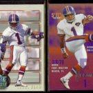 JASON ELAM 1993 Power Prospects + 1995 Fleer.  BRONCOS