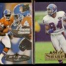 SHANNON SHARPE 1995 Ultra Extra #487 + 1995 Ultra #96.  BRONCOS
