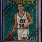 JEFF HORNACEK 1996 Topps Finest #48.  JAZZ