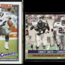EMMITT SMITH 1991 Topps Super Rookie #360 + 1991 Pro Set ROY #1.  COWBOYS