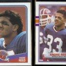 ANDRE REED 1988 Topps #224 + 1989 Topps #52.  BILLS
