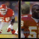 DERRICK THOMAS 1996 Leaf #22 + 1994 Playoff #2.  CHIEFS