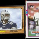 MARION BARBER 2005 Topps Heritage RC #247 + DAD 1989 Topps #233.  COWBOYS / JETS