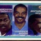 THURMAN THOMAS 1992 UD Leaders #31 w/ IRVIN + MOON.  BILLS