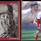 OZZIE SMITH 1991 Studio #238 + 1993 Flair #128.  CARDS