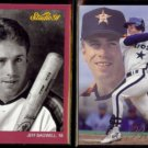 JEFF BAGWELL 1991 Studio #172 + 1993 Flair #57.  ASTROS