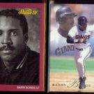 BARRY BONDS 1991 Studio #222 + 1993 Flair #138.  PIRATES / GIANTS