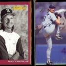 RANDY JOHNSON 1991 Studio #116 + 1993 Flair #272.  MARINERS