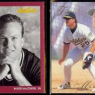MARK McGWIRE 1991 Studio #106 + 1993 Flair #261.  A's