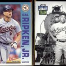 CAL RIPKEN Jr. 1992 Fleer Performers Insert + 1991 Score Dream Team.  ORIOLES