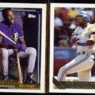 JOE CARTER 1992 Topps Gold + 1993 Topps Gold Inserts.  BLUE JAYS