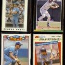 GEORGE BRETT (4) Card Odd Lot (1986, 1987 + 1989)  ROYALS