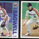 JEFF BAGWELL 1992 Fleer Performers Insert + 1994 Fleer Atlantic Insert.  ASTROS.  RED SOX