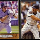 WADE BOGGS 1996 Upper Deck #410 + 1995 Fleer #67.  YANKEES