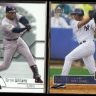 BERNIE WILLIAMS 2002 Upper Deck SPX #37 + 2003 UD #366.  YANKEES