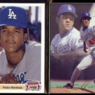 PEDRO MARTINEZ 1991 Upper Deck Final Diamond Skills + 1993 Flair.  DODGERS