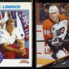 ERIC LINDROS 1991 Score Draft #356 + 1993 Leaf #233.  GENERALS / FLYERS