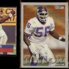 LAWRENCE TAYLOR 1991 Pro Set, 1993 Fleer + 1993 Pro Set.  GIANTS